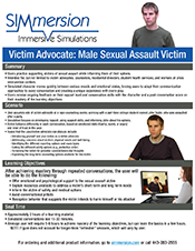 Male Victim Advocacy - Sexual Assualt Training Marketing Sheet